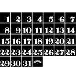 Čiernobiely nástenný kalendár A Little Lovely Company