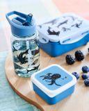 Detská fľaša so slamkou Petit Monkey - modrá