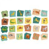 Detská pamäťová hra so zvieratkami z džungle.