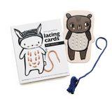 Prevliekacie a šnurovacie kartičky Lacing Cards - zvieratká