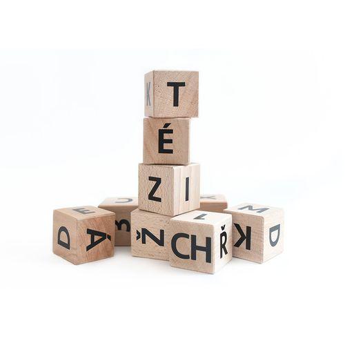 Drevené kocky - abeceda a čísla