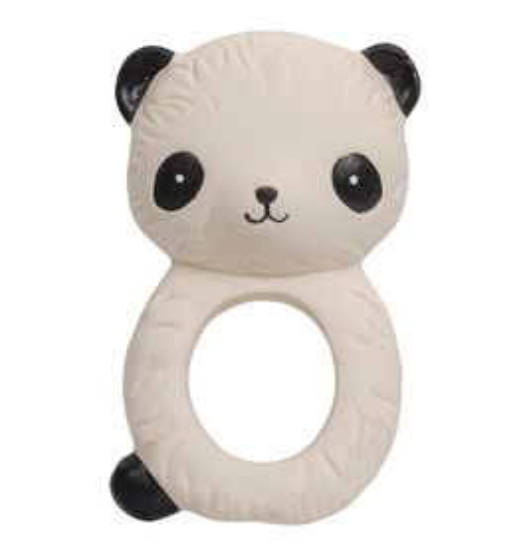 Hrýzatko A Little Lovely Company z prírodnej gumy - panda