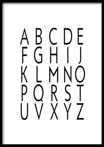 Obraz abeceda