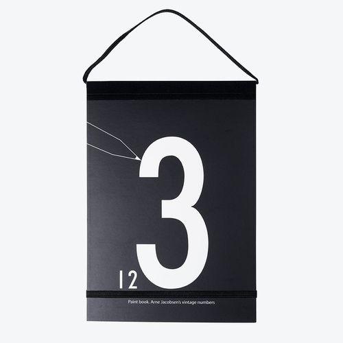 Omaľovánka čísla Design Letters