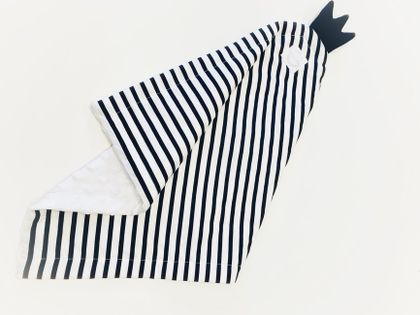 Bavlnený spinkáčik - bielo - čierny