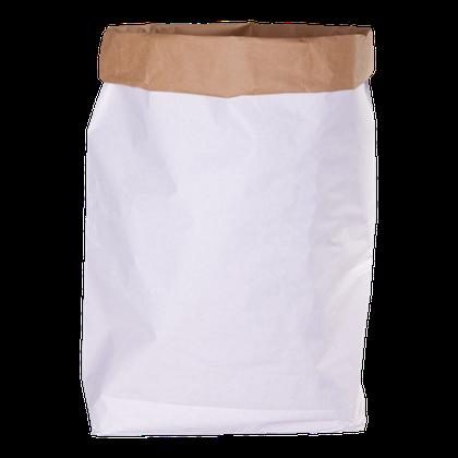 Biele veľké papierové vrece