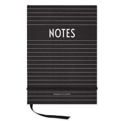 Čierny zápisník NOTES Design Letters