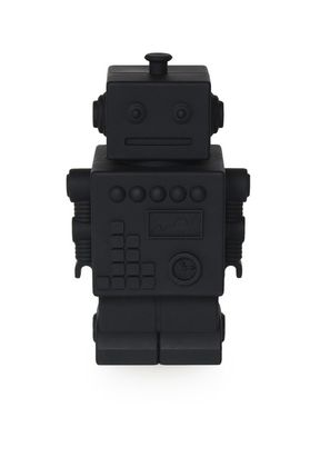 Detská silikónová pokladnička - Mr Robot čierny
