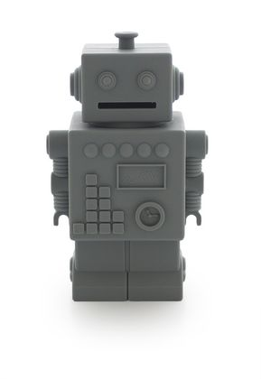 Detská silikónová pokladnička - Mr Robot šedý