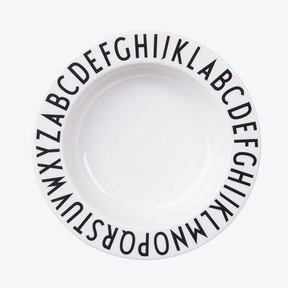 Detský hlboký tanier Design Letters