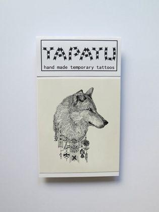 Dočasná tetovačka TAPATU - hlava vlka