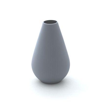 Malá silikónová váza - šedá