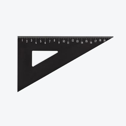 Pravítko trojuholník Design Letters