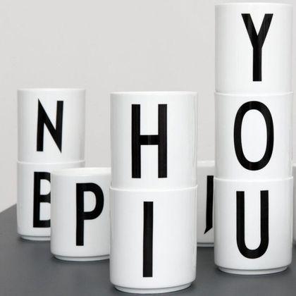Detský hrnček s písmenom Design Letters