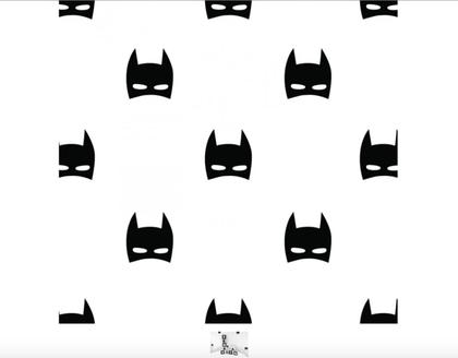 Samolepky na stenu - maska superhrdinu