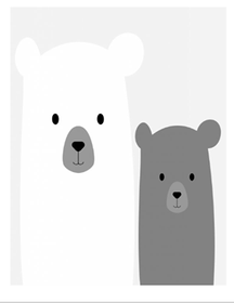 Samolepka na stenu - medvedíci