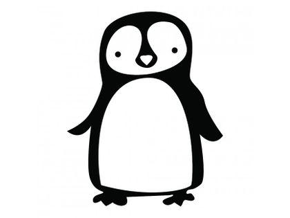 Samolepka na stenu - tučniak