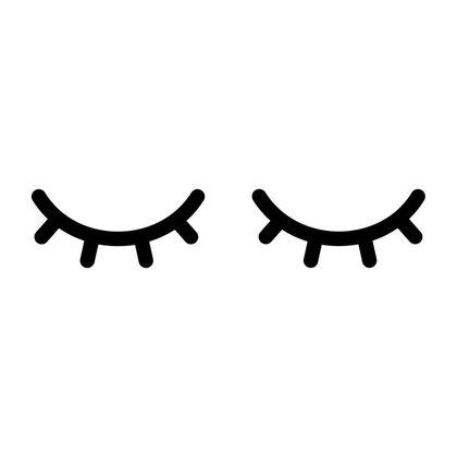 Samolepka spiace očká