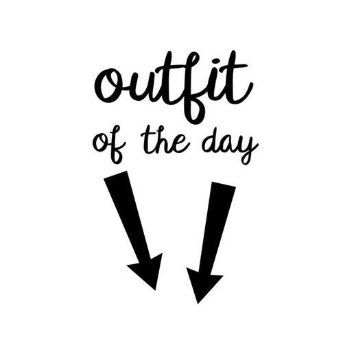 Samolepka na stenu - Outfit of the day