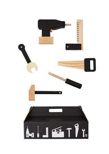 Súprava detského dreveného náradia Tool School