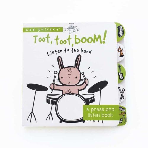 Zvuková knižka - stlač a počúvaj, Wee Toot, Toot, Boom!